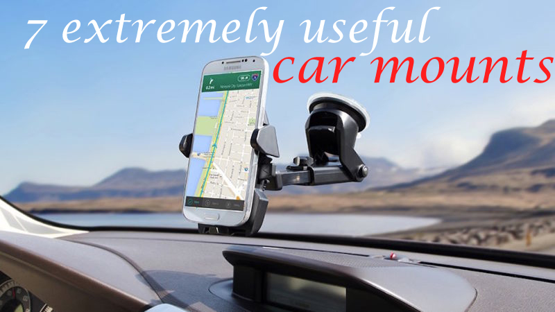 7 extremely useful cell phone car mounts